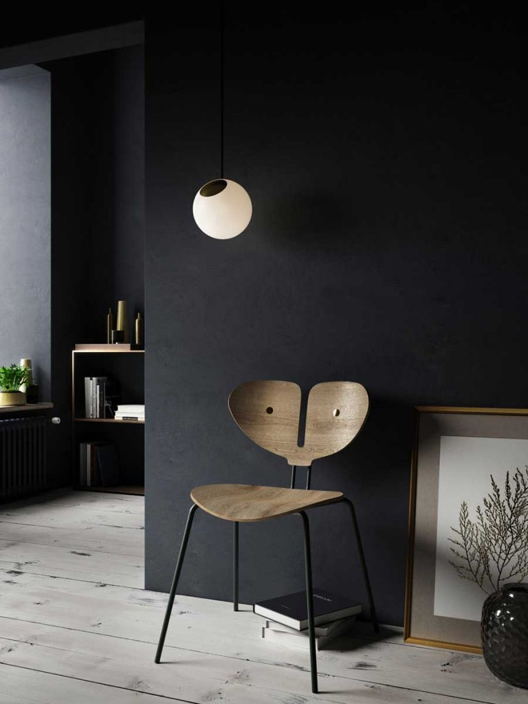 Moth Chair and Bright Spot in a scandinavian stilleben setting