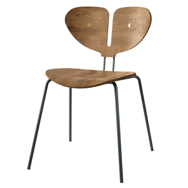 Moth Chair - A Danish Design Chair made from oak and solid brass